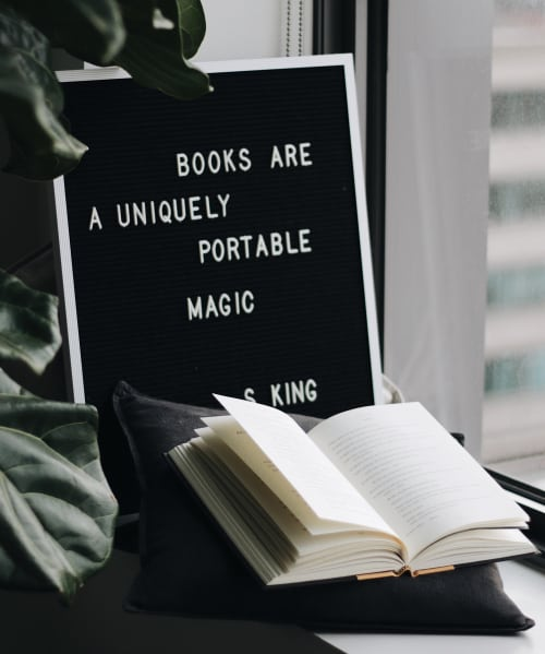 Books are a uniquely portable magic for you